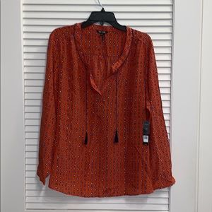 NWT 100% silk blouse from Neiman Marcus size 1X